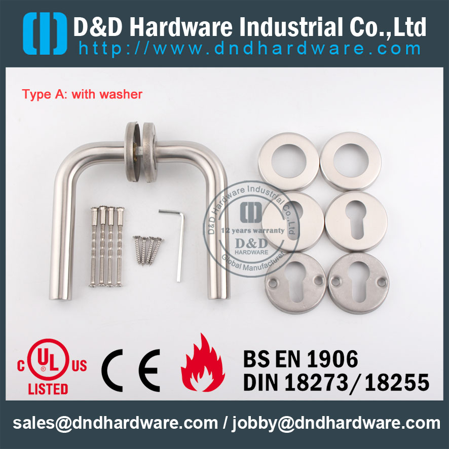 D&D Hardware-SS304 Tube lever handle DDTH002