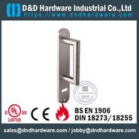 SUS304 Euro Profile Vertical Metal Door Handle with Plate for Argentina market