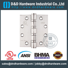 ANSI / BHMA GRADE 1 Stainless Steel Grade 304 Four Ball Bearing Fire Rated Door Hinge Certified by UL for Heavy Steel Door-4.5x4x4.6mm
