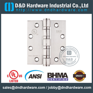 ANSI / BHMA GRADE 1 Heavy Duty 4 BB Hinge with UL Fire-rated For Metal Door- 4.5x4.5x4.6mm-4BB