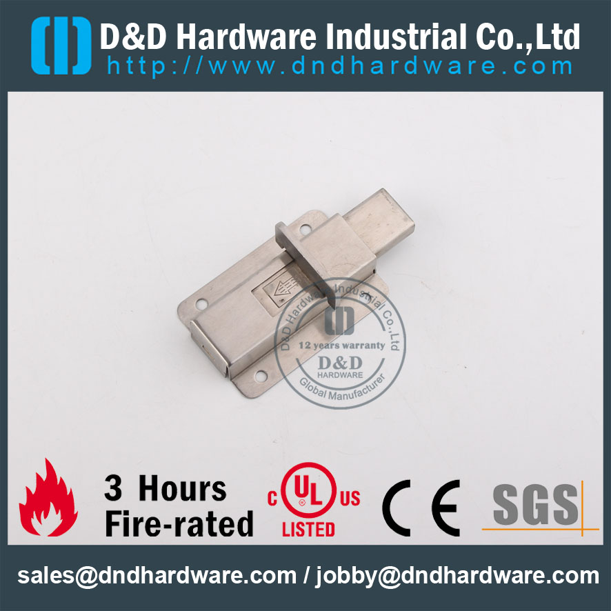 D&D Hardware-Stainless Steel 304 Square type Door Bolt DDDB013