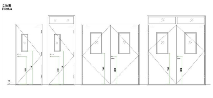 Fire rated door structure