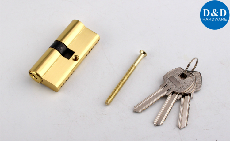 Solid Brass Euro Double Cylinder Lock-D&D Hardware