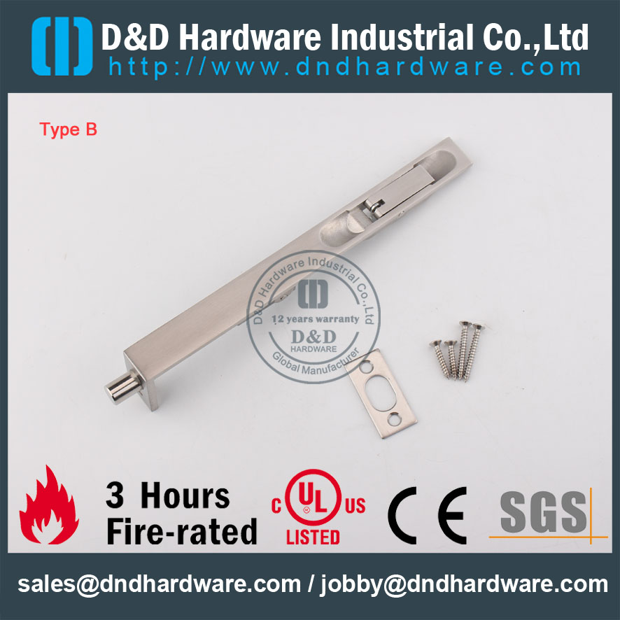 D&D Hardware-SS304 Construction Hardware Door Bolt DDDB001