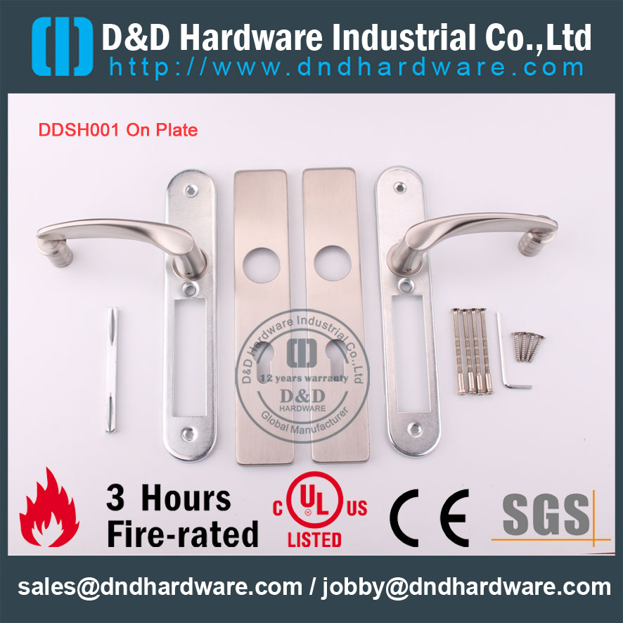 D&D Hardware-Architectural Hardware SS304 Lever handle on plate DDTP004