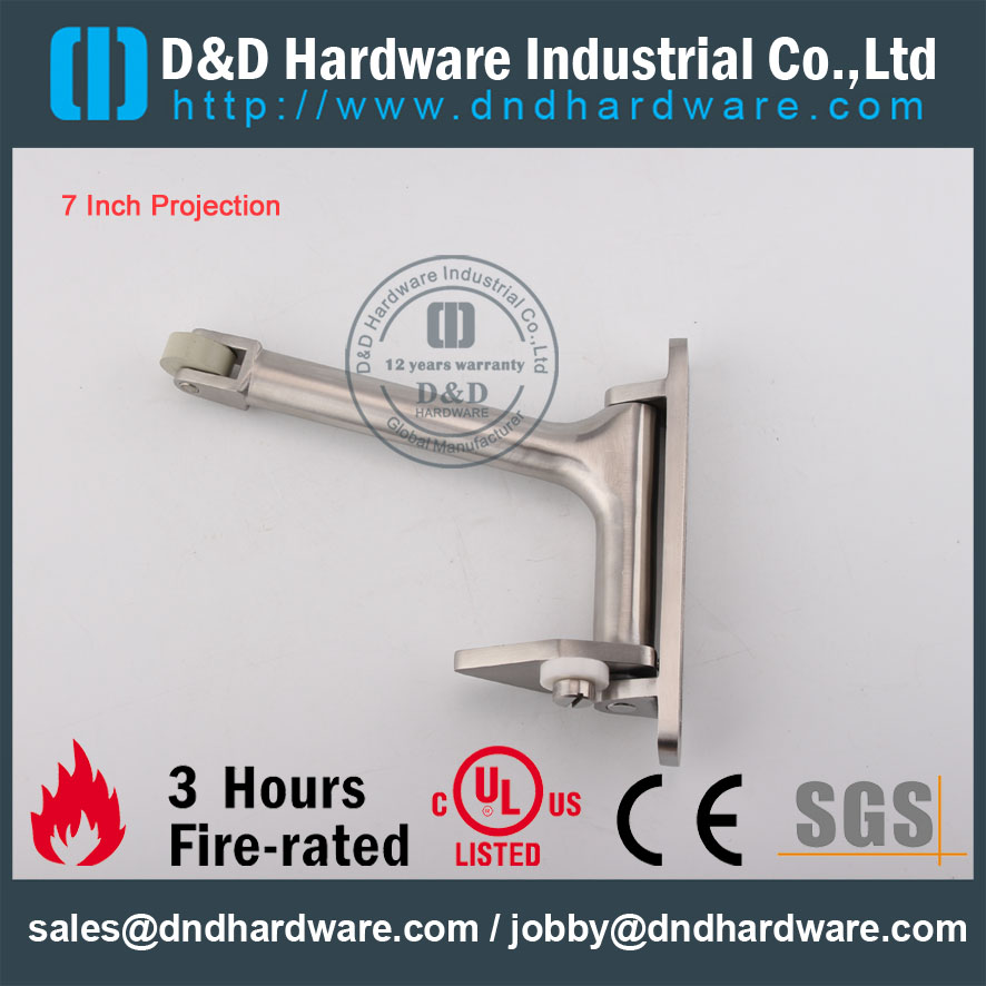 D&D Hardware-Euro Interior Stainless steel Door Coordinator DDDR001
