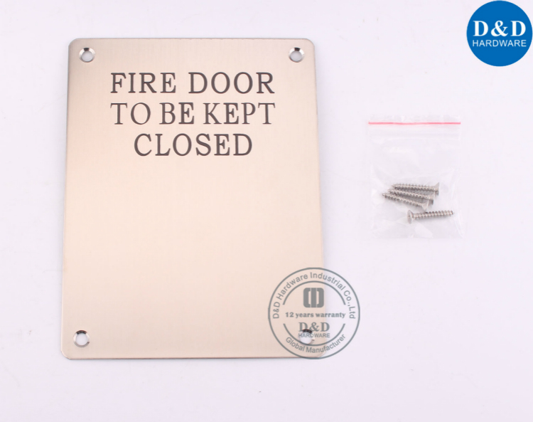 SS304 Square Fire Door Signature Plate-D&D Hardware