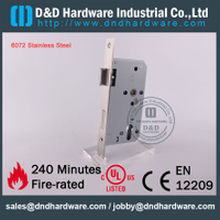 SS304 Sash Fire Rated Door Lock for Metal Door with CE Certificate-DDML009