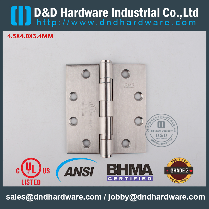 ANSI 2 Ball Bearing Hinge-DD HARDWARE