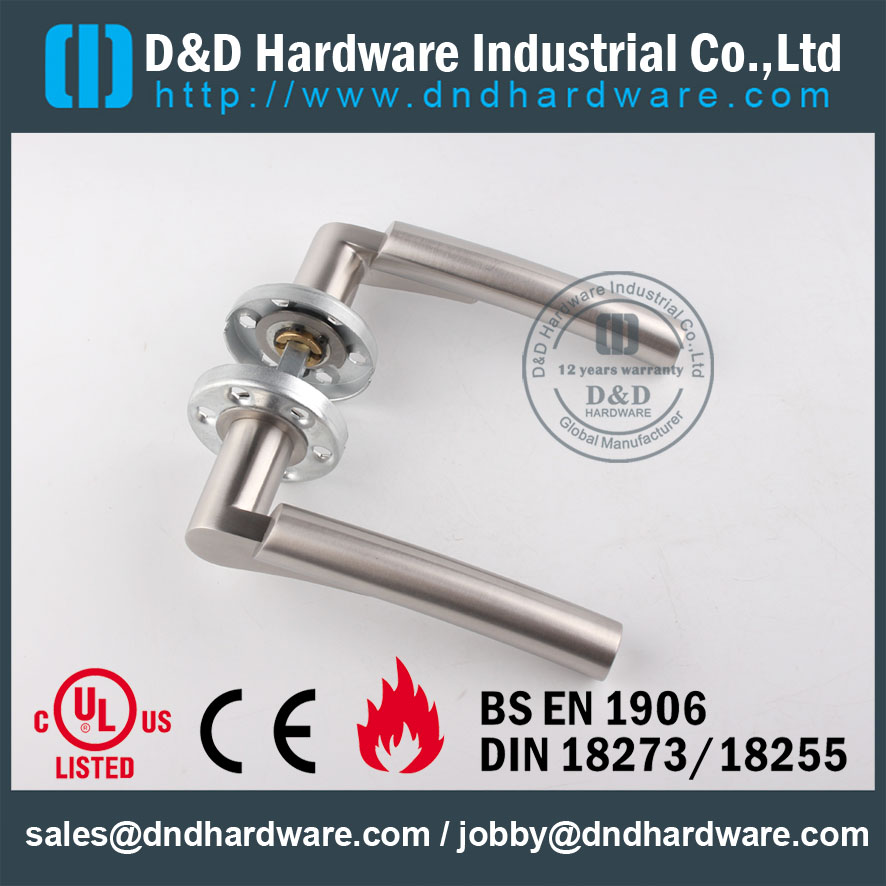 D&D Hardware-SS304 Solid Door lever handle DDSH017