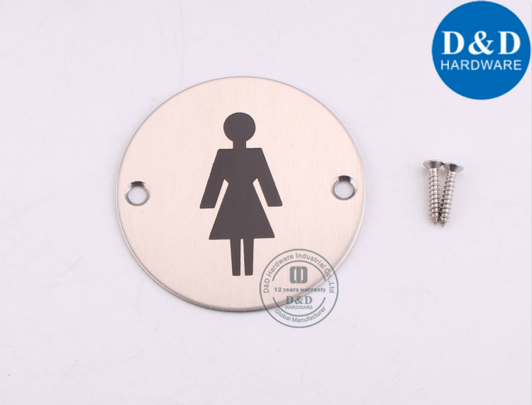 Women's Bathroom Square Sign Plate-D&D Hardware