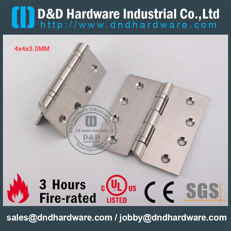 D&D Hardware-Euro Interior Fire Rated Hospital Hinge DDSS044-B