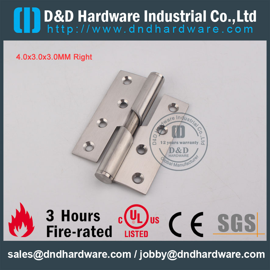 D&D Hardware-Fire Rated Stainless Steel 304 Rising Hinge