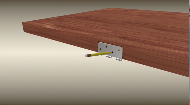 The step 4 of door hinge-D&D Hardware