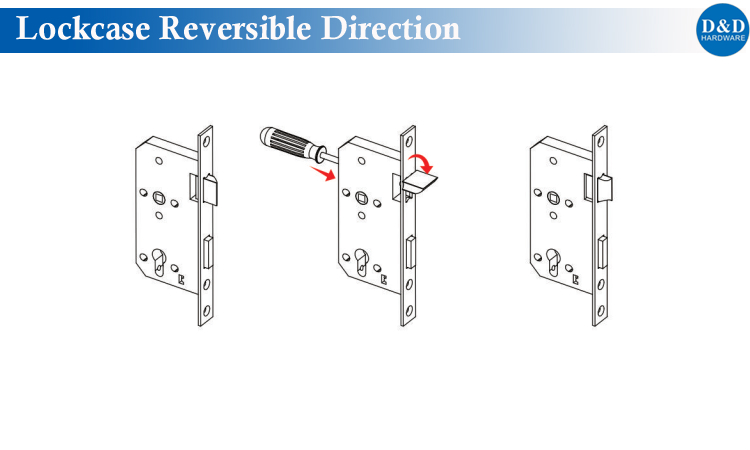 Lockcase Reversible Direction From D&D Hardware