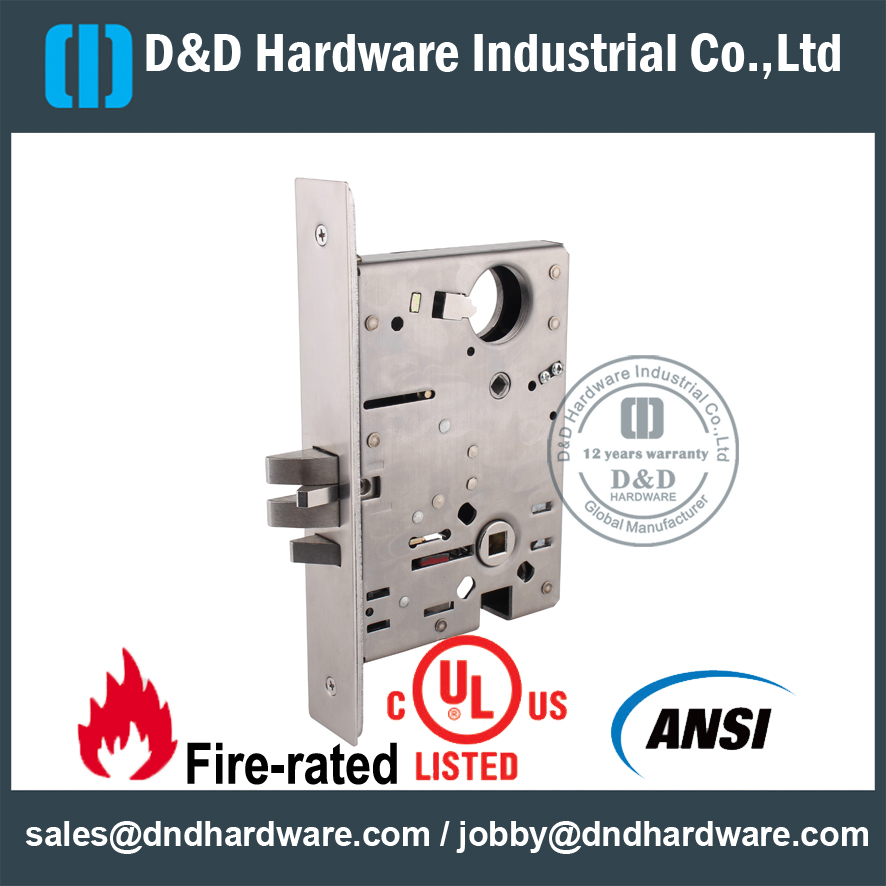 Stainless Steel 304 Ansi Classroom Mortise Lock For Metal