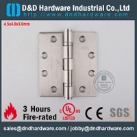 Stainless Steel 316 Durable UL Listed Fire Rated Ball Bearing Hinge for Steel Door-DDSS002-FR-4.5x4x3.0mm