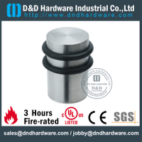 Stainless steel heavy duty cylindrical door stopper with double rubber ring for Outer Door- DDDS053
