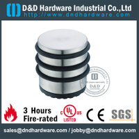Stainless steel cylindrical floor mounted door holder with 3 rubber ring for Fire Door-DDDS054