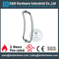 Stainless Steel 316 Cranked Pull Handle for Front Glass Door-DDPH034