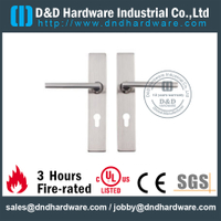 Stainless Steel 304 Hollow Square Shape Handle with Plate for Indoor Door-DDTP007