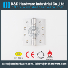 SUS201-Stainless Steel BS EN 1935 Fire Rated Ball Bearing Door Hinge for Metal Door-DDSS001--CE-4x3.5x3.0mm