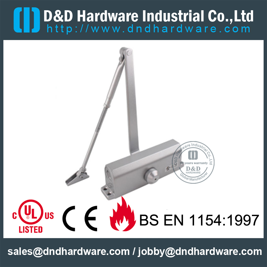 Aluminium Alloy 60-80KGS Fire Rated Door Closer with CE-DD Hardware