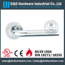Cast Solid Stainless Steel Lever Handle for Double Doors-DDSH186