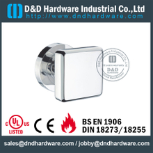 Stainless steel durable square solid door handle with round rose for Wood Door- DDSH191