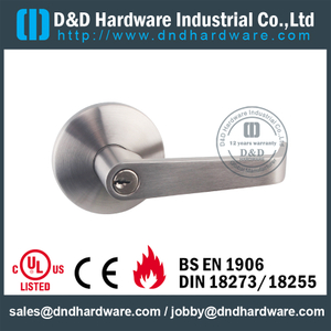 SS304 Fire Rated Lever Trim for Wooden Door with CE marked -DDPD012