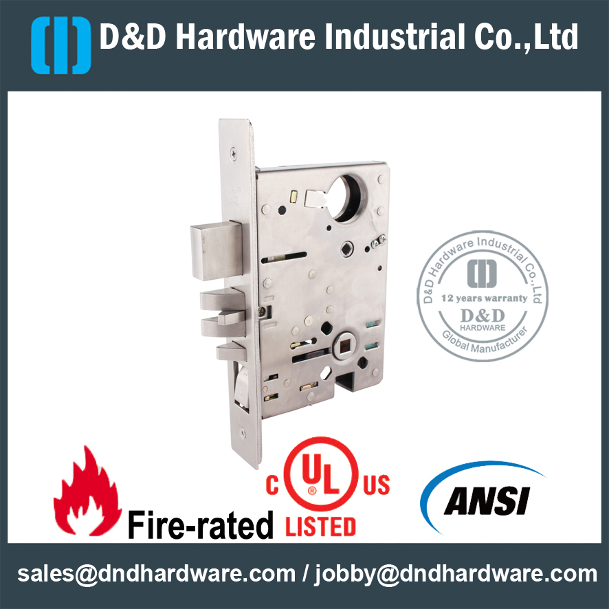 Mortise Lock with UL Listed-D&D Hardware