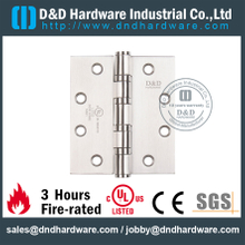 UL SS304 Full Mortise Fire Rated Door Hinge-DDSS003-FR-4x4x3.0mm