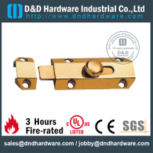 Gold Plated Mortise Brass Door Bolt for Metal Door-DDDB017