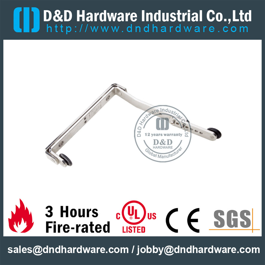 Stainless Steel Gate Coordinator Device Hardware for Exterior Double Door –DDDR004