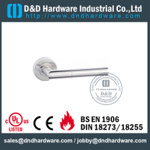 SS304 Antirust Tube Mitred Shape Door Handle for Entry Double Door-DDTH028