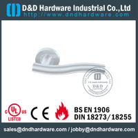 Grade 201 Tubular Fire Rated Hollow Lever Door Handle for Front Metal Door -DDTH007
