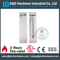 Stainless Steel 304 Grade Arabic Pull Handle on Plate for Exterior Wooden Doors -DDPH024