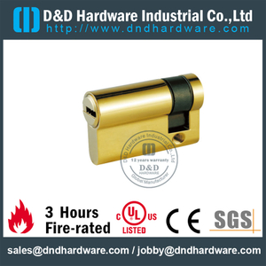 Brass Aluminum Door Lock Single Cylinder with 5 Keys-DDLC010
