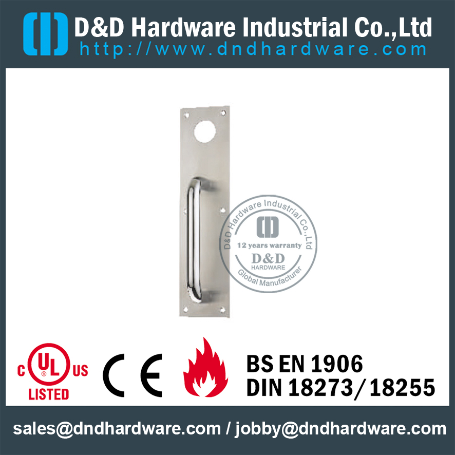 Stainless Steel 304 Night Latch Plate for Metal Doors work with Cylinder-DDPD011
