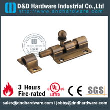 24 Gold Plated Mortise Brass Door Bolt for Metal Door-DDDB017