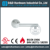 Stainless Steel 316 Internal Lever Door Handle with EN1906 for Aluminum Door-DDTH017