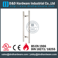 "Stainless Steel 304 Pull Handle ""T"" Bar Double Sided for Sliding Glass Door with Mirror Finish -DDPH001"