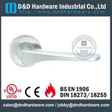 Cast Solid Stainless Steel Lever Handle for Commercial Doors-DDSH072