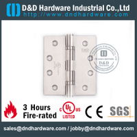 Stainless Steel Grade 316 Full Mortise Fire Rated Door Hinge with UL Certificate for Fire Metal Door-DDSS001-FR-4x4x3.0mm