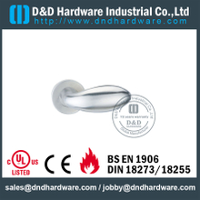 Stainless Steel 304 Antirust Solid Lever Handle for Interior Wooden Doors-DDSH030