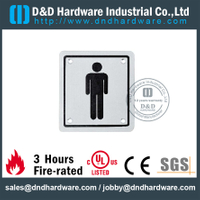 Stainless Steel 304 Men's Washroom Square Sign Plate 100x100mm for Bathroom Doors –DDSP001
