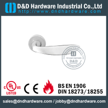 Grade 316 Die-Casting Lever Handle on Rose for Hotel Single Doors-DDSH019