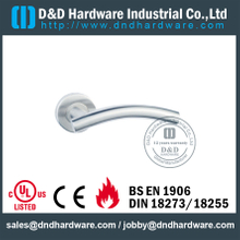 Stainless Steel 304 Hollow Fire Rated Bend T Shape Door Handle for Wooden Door-DDTH005