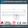 SS304 UL Fire Rated Push Panic Bar Emergency Exit Device-DDPD005