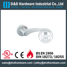 Stainless Steel 316 Polish Casting Door Lever Handle for Hollow Metal Door-DDSH015